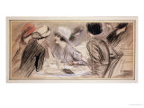 The Gossips Giclee Print by Paul César Helleu