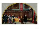 The Trial of Galileo Galilei in 1633 Premium Giclee Print by Nicolo Barabino