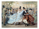 Waltz at the Bal Mabille, Avenue Montaigne, Paris Giclee Print by Charles Vernier