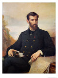 Pierre Savorgnan De Brazza 1886 Giclee Print by Xavier Alphonse Monchablon
