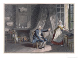 The Last Words of Jean-Jacques Rousseau at Ermenonville in 1778 Giclee Print by Jean-Michel Moreau the Younger