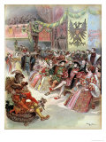 Ball at the Court of Francis I 1909 Giclee Print by Albert Robida
