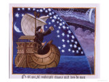 Amerigo Vespucci Navigating by the Stars Giclee Print