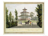 View of the Chinese Summer House, Palace of Lichtenstein at Eisgrub Giclee Print by Laurenz Janscha
