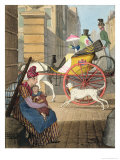 "The Carriage Entrance, from ""Twenty-Four Subjects, Exhibiting the Costume of Paris"" Giclee Print by John James Chalon"