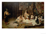 In the Harem, 1884 Giclee Print by Jose Gallegos Arnosa