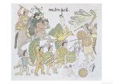 Battle of Michoacan Between the Spanish and the Aztecs Giclee Print