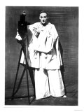 Portrait of Jean Charles Deburau as Pierrot, circa 1850-60 Premium Giclee Print by  Nadar
