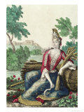 Allegory of Summer, Late 17th Century Giclee Print by Nicolas Bonnart