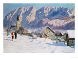 Mittendorf in Austria, after an Original Watercolour Giclee Print by Gustave Jahn