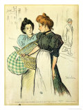 Two Washerwomen, 1898 Giclee Print by Th&#233;ophile Alexandre Steinlen