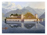 Isola Bella, Lake Maggiore: the Terraced Gardens Giclee Print by Mathias Gabriel Lory