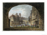 View of the Pont Du Chatelet and Notre-Dame Cathedral, 1810 Giclee Print by John Claude Nattes