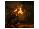 The Denial of St. Peter, 1660 Giclee Print by  Rembrandt van Rijn