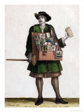 The Haberdasher Giclee Print by Jean Baptiste Bonnart