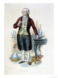 "Antoine Laurent De Lavoisier (1743-94) Illustration from ""Le Plutarque Francais"" Giclee Print by Julien Leopold Boilly"