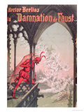 "Front Cover for the Score of ""The Damnation of Faust"" by Hector Berlioz Giclee Print by Georges Fraipont"