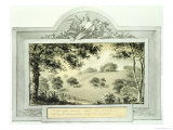 Before' View of the Grounds, from the Red Book for Antony House, circa 1812 Giclee Print by Humphry Repton