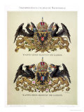 Plate with the Coats of Arms of Emperor Franz Joseph I and Empress Elizabeth of Bavaria Giclee Print by Hugo Gerard Strohl