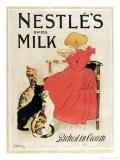 Poster Advertising Nestle's Swiss Milk, Late 19th Century Reproduction procédé giclée par Théophile Alexandre Steinlen