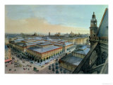 View of Les Halles in Paris Taken from Saint Eustache Upper Gallery, circa 1870-80 Giclee Print by Felix Benoist
