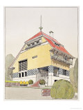 "Study for Olbrich's House, Darmstadt, from ""Architektur Von Olbrich,"" Published circa 1904-14 Giclee Print by Joseph Maria Olbrich"
