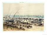 The Inauguration Procession of the Suez Canal at the Harbour of Ismailiya Giclee Print by Édouard Riou