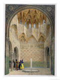 The Hall of the Abencerrages, the Alhambra, Granada, 1853 Reproduction procédé giclée par Leon Auguste Asselineau