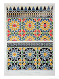 Wall Tiles from the Mihrab of the Mosque of Cheykhoun Reproduction proc&#233;d&#233; gicl&#233;e par Achille-Constant-Th&#233;odore-&#201;mile Prisse d&#39;Avennes