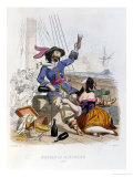 "Morgan the Buccaneer in 1668, from ""Histoire Des Pirates"" Giclee Print by Alexandre Debelle"