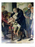 Edward Jenner Performing the First Vaccination Against Smallpox in 1796, 1879 (Detail) Giclee Print by Gaston Melingue
