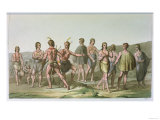 American Indians from South Carolina, circa 1820, Giclee Print