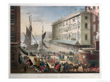 Billingsgate Market, London, Published 1st March 1808 Giclee Print by T. & Pugin Rowlandson