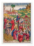 The Multiplication of Loaves and Fishes, 1491 Giclee Print by Michael Wolgemut Or Wolgemuth