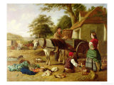 The Market Cart, 1864 Giclee Print by Henry Charles Bryant