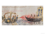 Greek Fire Giclee Print by Byzantine