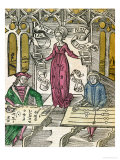 "Allegory of Arithmetic, from ""Margarita Philosophica,"" 1504 Premium Giclee Print by Gregor Reisch"