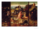 Altarpiece of the Hermits Gicléetryck av Hieronymus Bosch