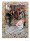 "Hamlet Before King Claudius, Queen Gertrude and Ophelia, Scene from ""Hamlet"" Giclee Print by Christian August Printz"