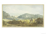"Panoramic ""Before"" View, from the Red Book for Antony House, circa 1812 Giclee Print by Humphry Repton"