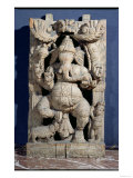 Statue of Ganesh Enthroned Giclee Print