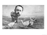 Caricature of Emile Zola, Giclee Print