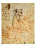 Anatomical Studies, circa 1500-07 Giclée-Druck von  Leonardo da Vinci