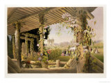 "View from the Rustic Seat, Shrublands, from ""The Gardens of England,"" Published 1857 Giclee Print by E. Adveno Brooke"