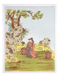 "Couple in a Chinese Garden, from ""Ornaments of China"" Giclee Print by Jean Francois Albanis De Beaumont"