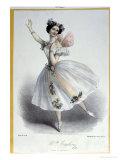"""Maria Taglioni, Italian Ballerina, in """"La Sylphide, Souvenir D'Adieu,"""" circa 1832, Giclee Print"""