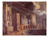 Ruins with the Legend of St. Augustine Giclee Print by Francois de Nome