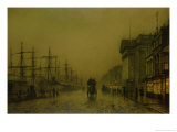 Liverpool Docks Customs House and Salthouse Docks, Liverpool Giclee Print by John Atkinson Grimshaw