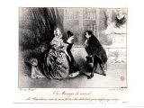 A Marriage of Convenience, circa 1840 Giclee Print by Henri Bonaventure Monnier