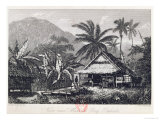 View Near Matavai Bay, Otaheite Reproduction proc&#233;d&#233; gicl&#233;e par John Webber